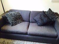 Charcoal 3 Seater Sofabed from Habitat