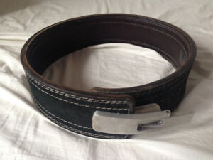 Weightlifting Powerlifting Leather Lever Belt