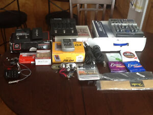 Various guitar related equipment and accessories