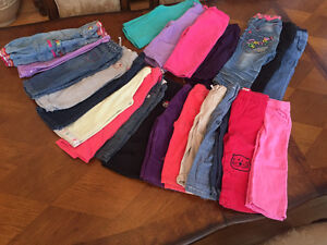 23 Pairs of little girls pants in great condition for $30