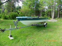 Great boat ,motor and trailer for sale