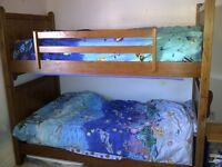 Solid Oak twin beds/bunk bed bedroom set