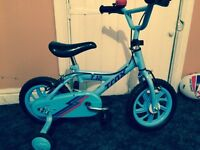 "Boys 12"" blue bike"