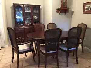 Gibbard Solid Cherry Dining Room Table, Buffet and Chairs