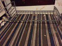 metal framed bed
