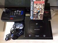 Sega Saturn Console And Games