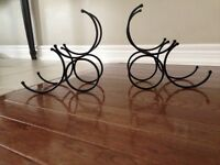 Wrought iron Wine holder bookends