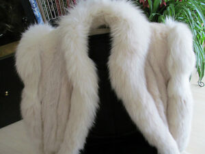 MINK FUR COAT with Fox trims SIZE11 FULL lenght, NEW LOOK