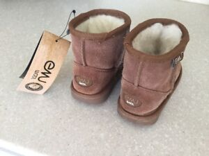 Girls Emu Boots--pink-9-12 months, Brown size 8 (new),9