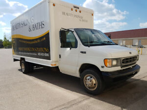 Great Condition 2001  Ford E450 7.3 Turbo Diesel Cube Van