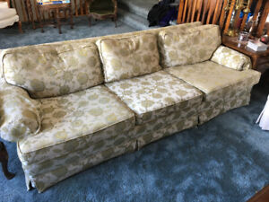 Sofa - white gold green blue floral