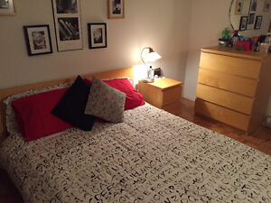 Ikea bed, night table and dresser