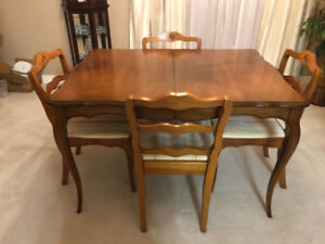 French Provincial Table, Chairs & Buffet