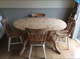 Stripped Pine Oval Dining Table