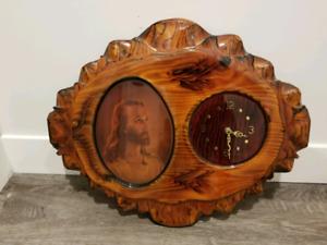 Vintage Handcrafted Jesus Clock
