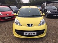 PEUGEOT 107 URBAN 5DR 2008 * IDEAL FIRST CAR *CHEAP INSURANCE *LONG MOT *HPI CLEAR*ONLY £20 ROAD TAX
