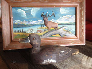 RECHERCHE-WANTED- sculpture - art populaire - duck decoys