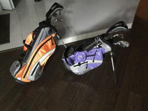 2sac de golf gaucher enfant 5ans à7ans