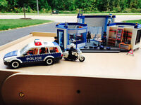 Playmobil Police Station, Police Car and Police Helicopter
