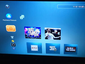 PS3 with 1 controller & 28 games