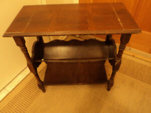 ANTIQUE END TABLE SOLID WOOD