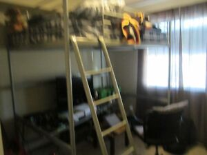IKEA DOUBLE LOFT BED WITH DESK AND MATTRESS