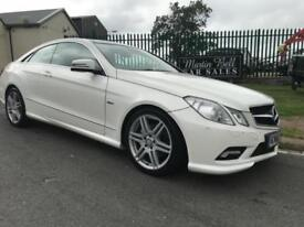 MERCEDES E250 CDI SPORT COUPE AMG WHITE/RED LEATHER FULLY LOADED