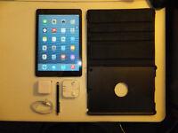 10/10 iPad Air 32GB (WIFI+Cellular 4G LTE)+Warranty 2015-10+Case