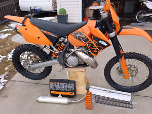 2007 KTM 300 XC-W w/PC Platinum 2 Pipe