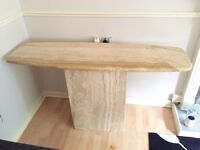 Solid marble console table