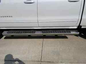 Chrome running boards for a 2016 Chev/GMC pick up crew cab