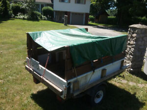 Small utility trailer for small car