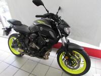 YAMAHA MT-07 ABS, 18 REG ONLY 490 MILES, WITH GILLES LEVERS, ENGINE SLIDERS...