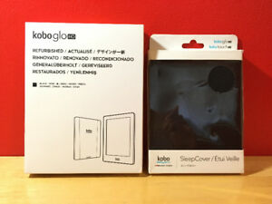Kobo Glo HD E-Reader + Sleep Cover - Like New