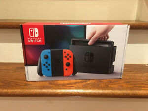 New in Box Nintendo Switch Console Neon Red Blue