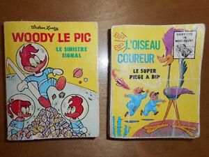 2 livres Woody Wood Picker + Bip Bip l'oiseau coureur