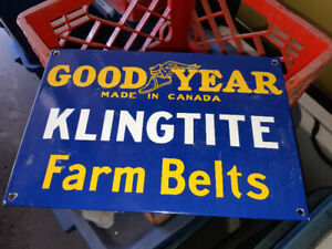 GOOD YEAR FARM PORCELAIN SIGN