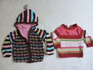 Two knitted cotton sweaters size 2