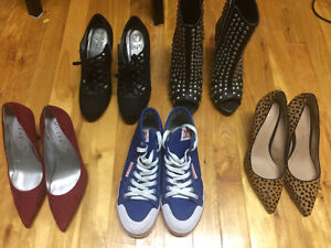 Many shoes size 6 – 6.5 / Souliers taille 6- 6.5 + ADIDAS BLUE