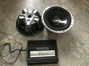 1300w Sony Subwoofer speakers, and 600w Kenwood Amplifier