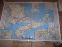 Large Laminated Map of Atlantic Canada + more
