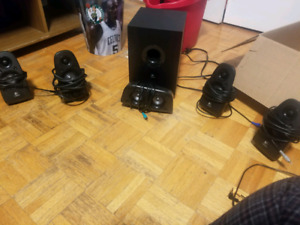 Logitech Z506 Surround Sound speakers with subwoofer