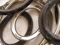 Assortment of Oval Picture Frames all Wood