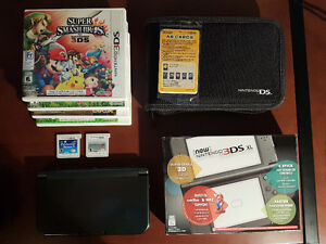 Near Mint Condition New 3DS XL Black With 6 Games For Sale