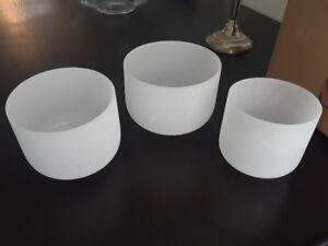 Quartz Crystal Singing Bowls for Healing Sound Therapy