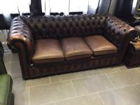 Vintage Chesterfield sofa 3 seater