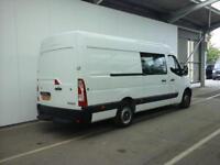 2012 RENAULT MASTER MML35 DCI 125 LWB 7 SEAT CREW VAN MEDIUM ROOF RWD COMBI VAN