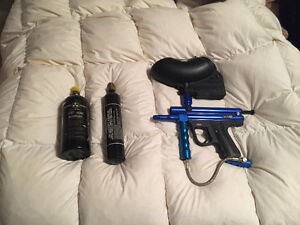Paintball gun/hopper/2xtanks