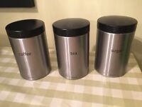 Brabantia Tea Coffee Sugar Kitchen Canister Set