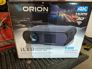 Orion projector R400 with r72 digital screen